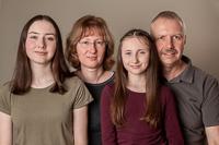 Matthias, Silke und Töchter Annika und Carolin als Portrait